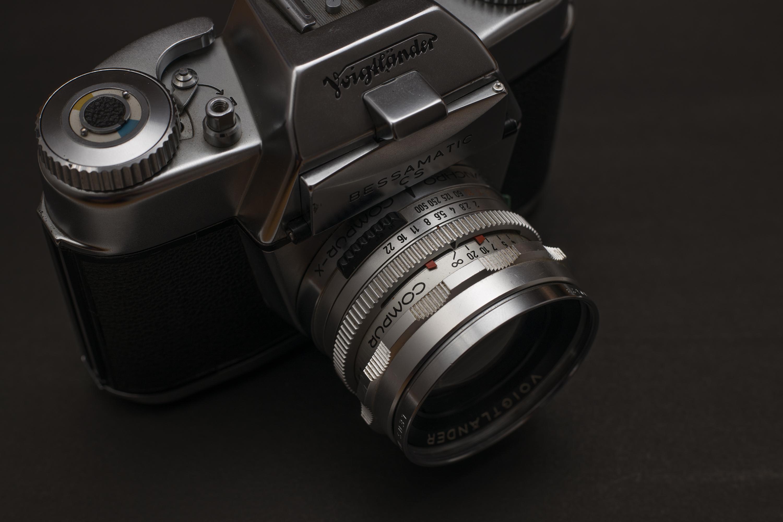 Detail of the Voigtländer Bessamatic camera