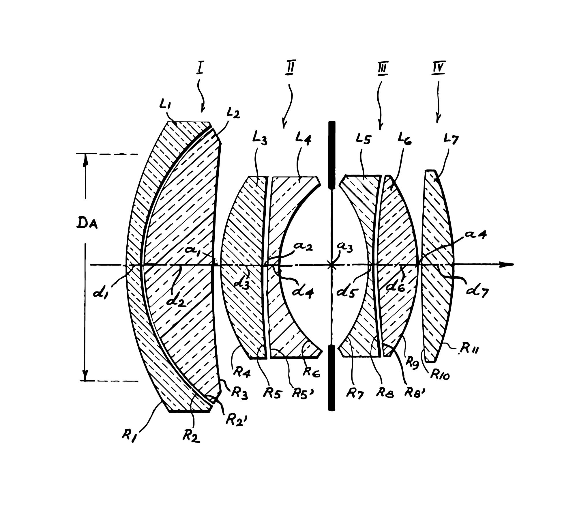 Patent diagram of the Nokton 50mm f1.5