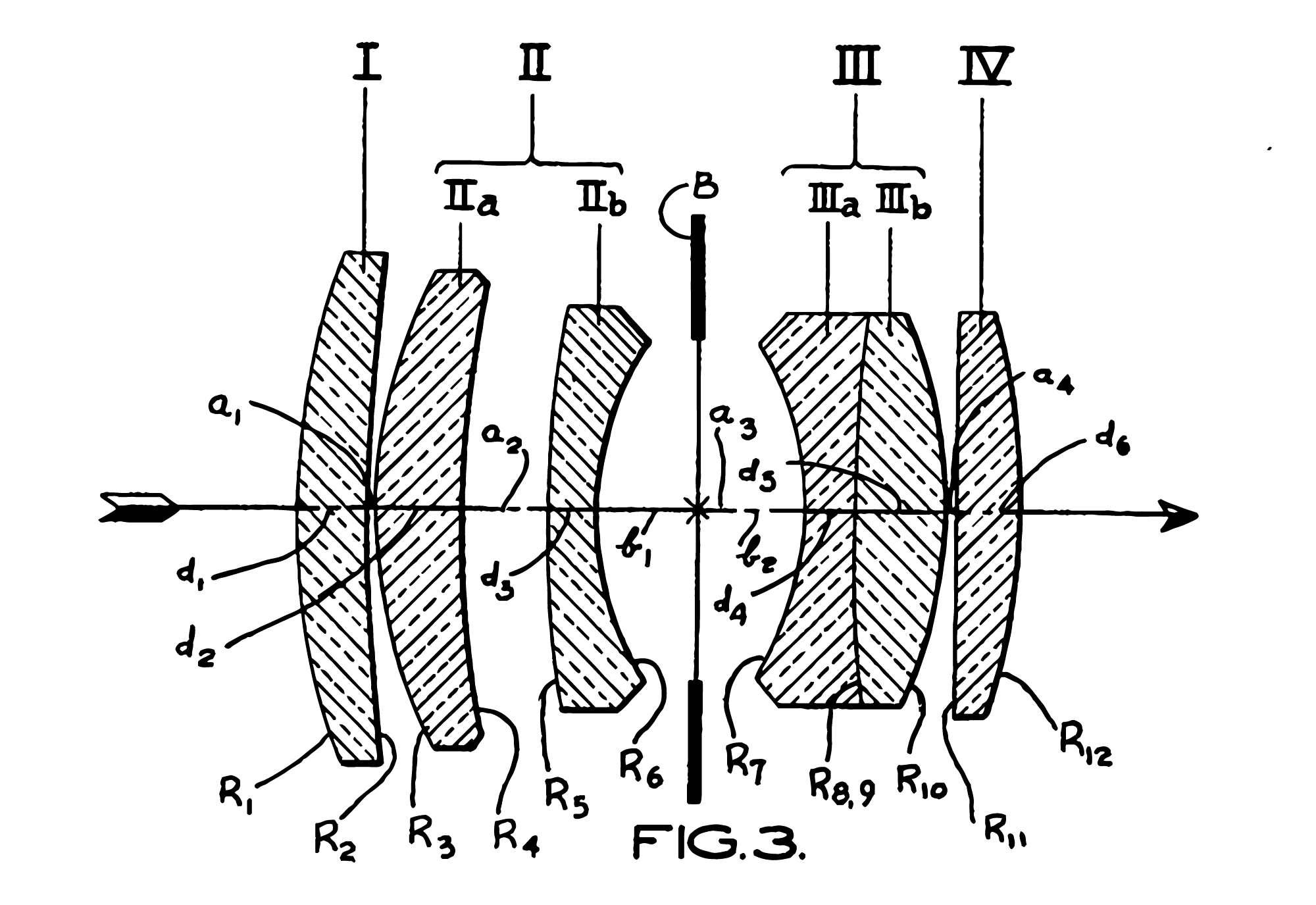 Patent diagram of the Voigtländer Ultron 50mm f2