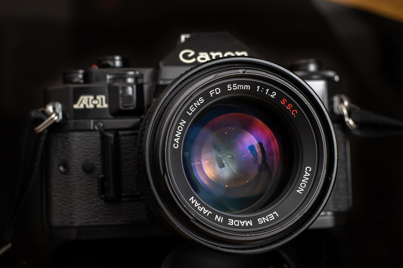 Canon FD 55mm f1.2 S.S.C. on Canon A-1 Camera