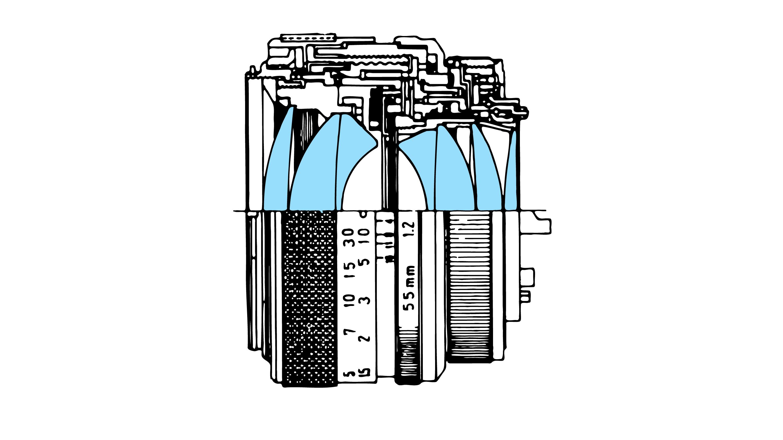 Canon FD 55mm f1.2 S.S.C. - Diagram