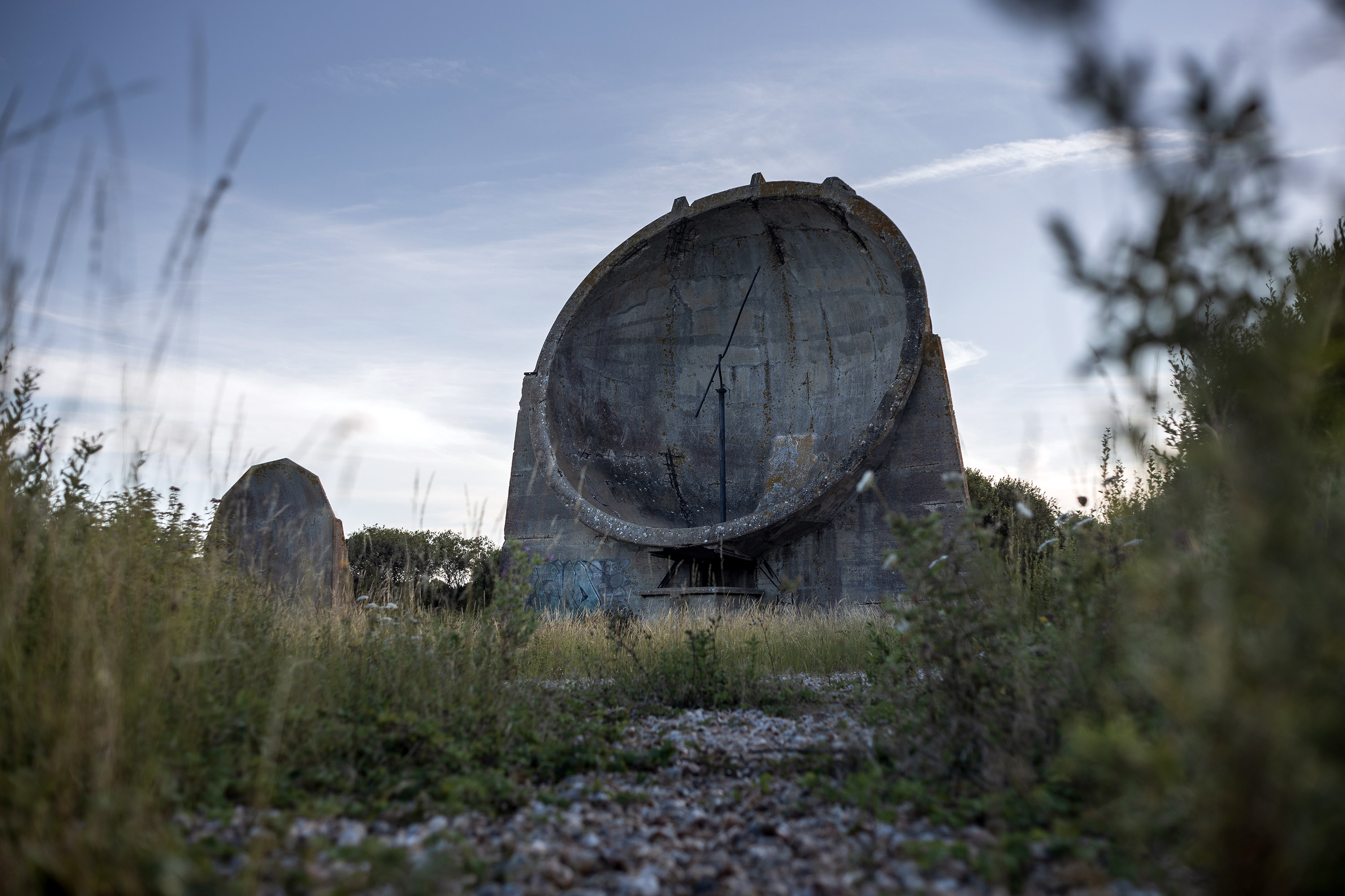 Another angle of the Denge sound mirrors