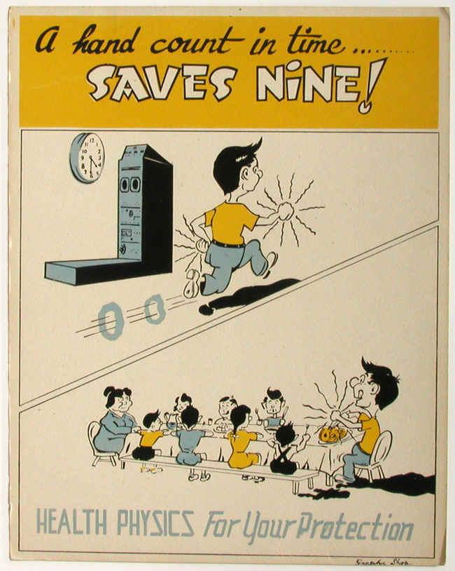 Health Physics Poster from Oak Ridge National Laboratory (1947)