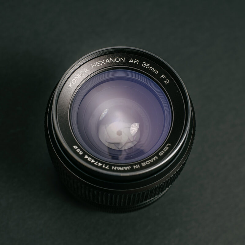 Konica Hexanon AR 35mm f2 - Front view